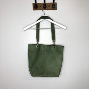 HOBO International Green Leather Shoulder Bag